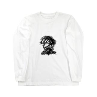 かお Long sleeve T-shirts