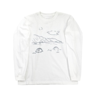 山とキャンプ Long sleeve T-shirts