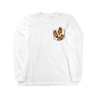 ポケたぬ_スケスケ Long Sleeve T-Shirt