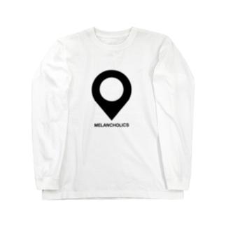 目的地ピンのデザイン 色違い Long sleeve T-shirts