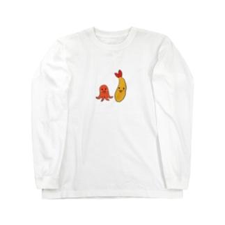 エビフライとタコさんウィンナー Long Sleeve T-Shirt