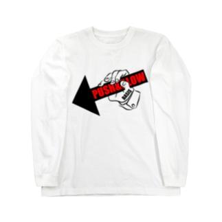 PUSH & BLOW -black/red- Long sleeve T-shirts