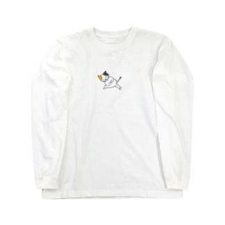 yoganeko お尻きついポーズ Long sleeve T-shirts