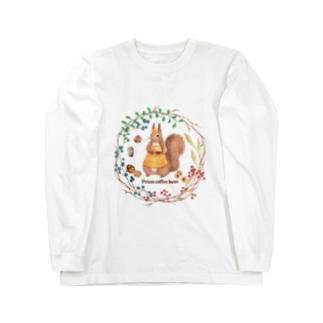 森の木の実のボタニカルカフェ Long sleeve T-shirts