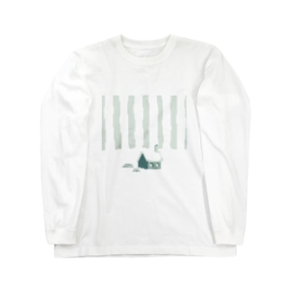 雪の丘 Long sleeve T-shirts