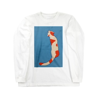 ニシキネコ Long sleeve T-shirts