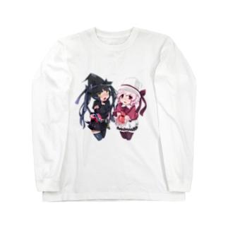 SEOのホワイトハットジャパンの白野おぷちと黒木凛紅からのプレゼント Long sleeve T-shirts