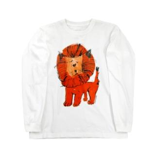 ひとみしり!ライオン Long sleeve T-shirts