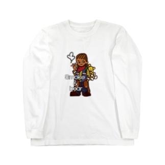 クマを背負ったボヘミアンA Long sleeve T-shirts