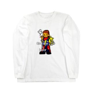クマを背負ったボヘミアンB Long sleeve T-shirts