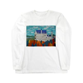 紅葉のノイシュバンシュタイン城 Long sleeve T-shirts