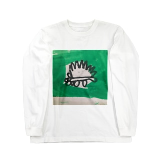 ハリネズミ Long sleeve T-shirts