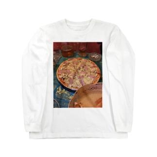 ハッピーピザ Long sleeve T-shirts