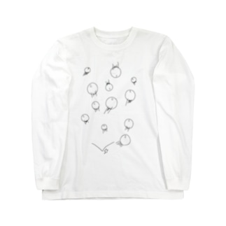 しらたまくん Long sleeve T-shirts