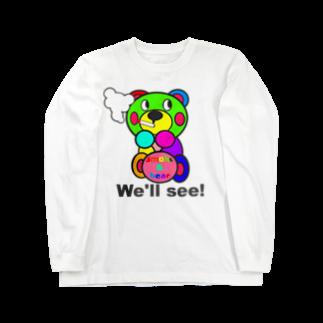オリジナルデザインTシャツ SMOKIN'の一服モクモックマ  カラフル  Long sleeve T-shirts