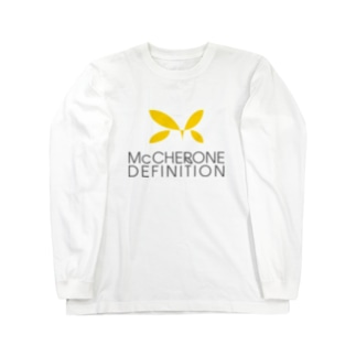 McCHERONE DEFINITION[淡色] Long sleeve T-shirts
