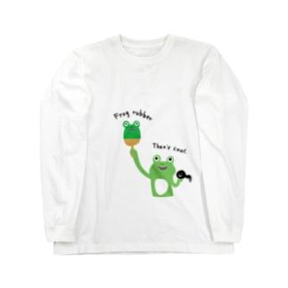 卓球 カエルラバー Long sleeve T-shirts