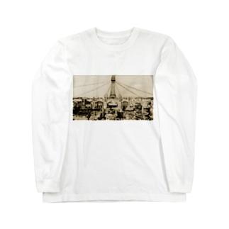 大阪 天王寺 1912 -ルナパーク- Long sleeve T-shirts