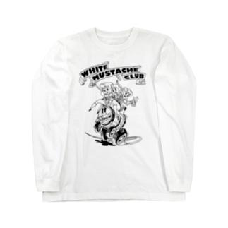 """WHITE MUSTACHE CLUB""(タイトルなし)) Long Sleeve T-Shirt"