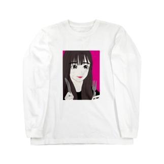 食いしん坊な女の子 Long sleeve T-shirts