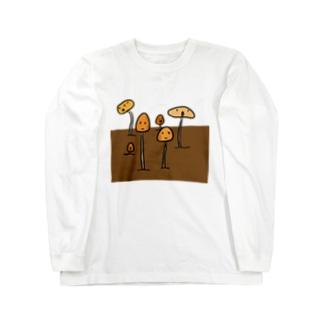 プランターに生えた謎のきのこ Long sleeve T-shirts