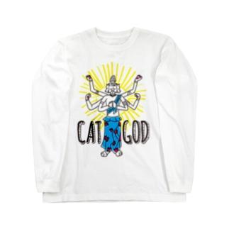 キャットゴッド Long sleeve T-shirts