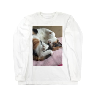 愛猫モモ Long Sleeve T-Shirt