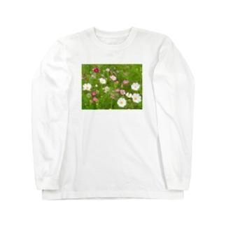 花模様  秋桜便り Long Sleeve T-Shirt
