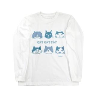 CATCATCAT(青) Long sleeve T-shirts