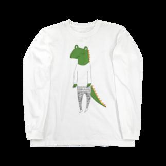 Tommy_is_mozukuのcrocodile カラーバージョン Long sleeve T-shirts
