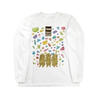 三猿〜Onsight Climbing〜 Long sleeve T-shirts