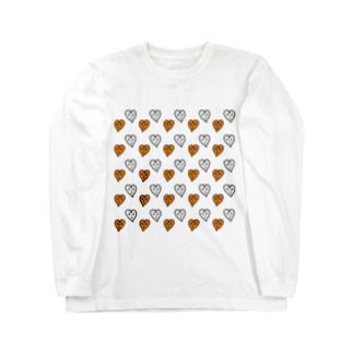 ハートくんがいっぱい! Long sleeve T-shirts