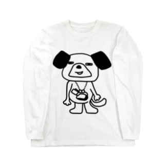 銭犬 Long sleeve T-shirts