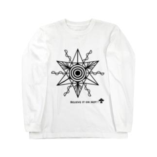 ミステリーサークル07(ブラックver) Long sleeve T-shirts