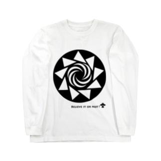 ミステリーサークル08(ブラックver) Long sleeve T-shirts