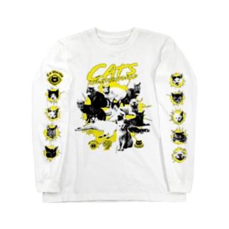 猫が世界を支配する(黄) Long Sleeve T-Shirt