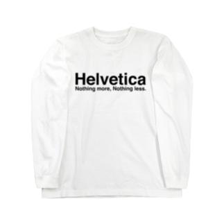 ヘルベチカ Long sleeve T-shirts