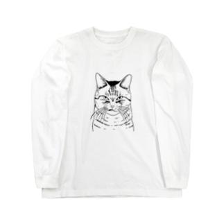 目つきの悪い猫しろ Long Sleeve T-Shirt