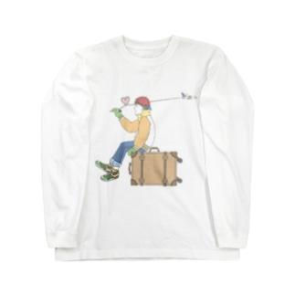 ROMAN飛行へ Long sleeve T-shirts