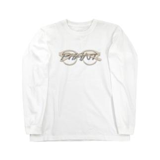 メガネ/黒字 Long Sleeve T-Shirt