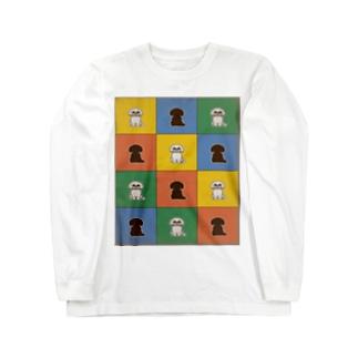 マルチーズ(カラー4x3) Long Sleeve T-Shirt