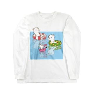 シロクマ Long sleeve T-shirts