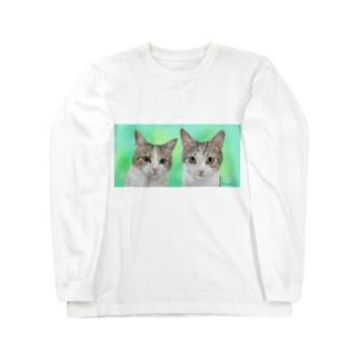 ツーショット チャビー君とジェミーちゃん Long sleeve T-shirts