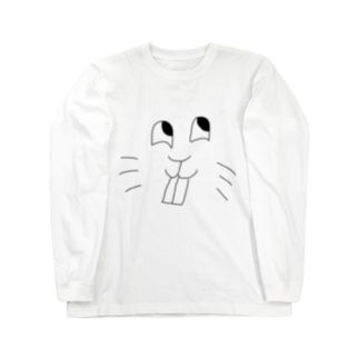 ごま油ポン太郎のgoma_face Long sleeve T-shirts