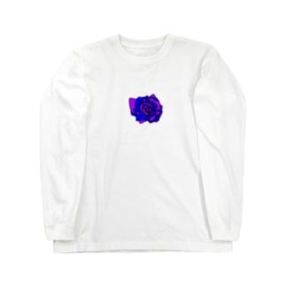 薔薇🌹パープルブルー💜💙 Long sleeve T-shirts