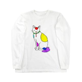 背筋良い猫 Long Sleeve T-Shirt