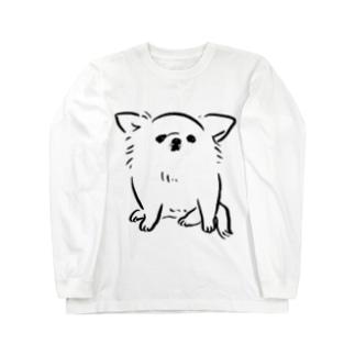 チワワ ベビー ホワイト【せいこせんせい】 Long sleeve T-shirts