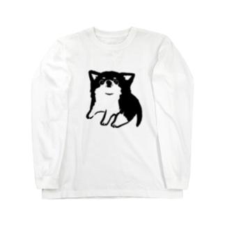 チワワ ベビー ブラック【せいこせんせい】 Long sleeve T-shirts