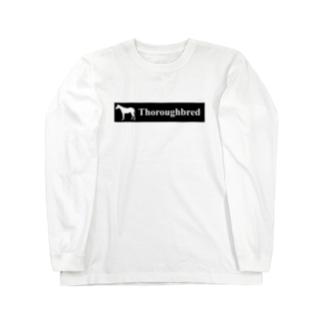文字ネタ 515 サラブレッドステッカー 黒 Long sleeve T-shirts