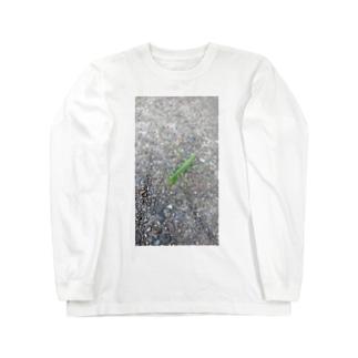 カマキリのヒトコマ Long sleeve T-shirts